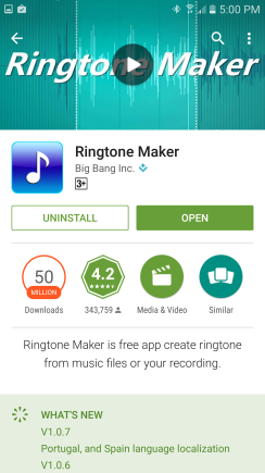 ringtone maker for galaxy s7